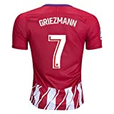 GRIEZMANN 7 ATLETICO MADRID 17/18 Home Soccer Jersey Men's Color Red/White Size M