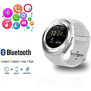 RabbyRock Y1 Bluetooth SmartWatch - HD IPS Round Touch Screen Cell Phone Watch with SIM TF Card Slot SmartWatch Pedometer Sleep Monitor Remote for ...