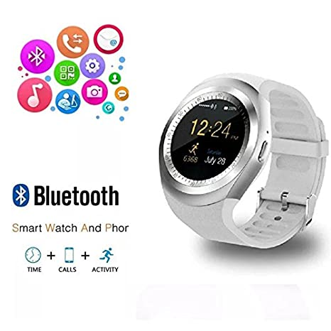 Amazon.com: RabbyRock Y1 Bluetooth SmartWatch - HD IPS Round Touch Screen Cell Phone Watch with SIM TF Card Slot SmartWatch Pedometer Sleep Monitor Remote ...