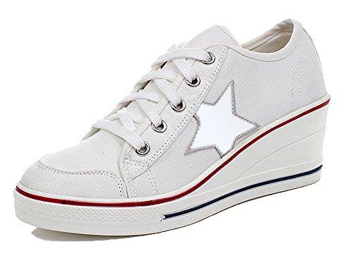 Sneakers Padgene Chaussures Compensées Baskets Toile Mode Femme 5xaRWWXqUw