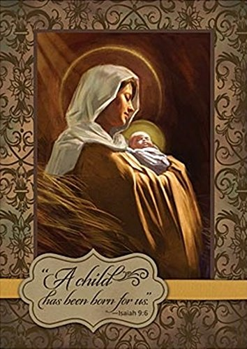 """Abbey Press """"Madonna and Child"""" Christmas Cards - Inspiration Faith Blessing Spirit 53362T-ABBEY"""