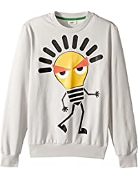 Fendi Kids Mens Long Sleeve Sweat Top w/ Lightbulb Design on Front (Big Kids)