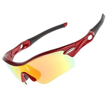 hysenm TR90 Fotocromáticas UV400 ligero Deportes Gafas de sol polarizadas con 5 lentes Intercambiables Para Ciclismo