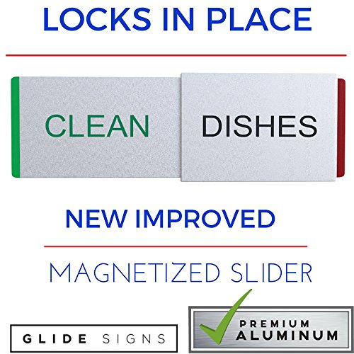 3M Adhesives Included With Dishwasher Clean Dirty Sign Universal /& Non-Scratching Clean Dirty Dishwasher Magnet For Any Kind of Dishwasher PREMIUM Dishwasher Magnet Clean Dirty Sign SLIDER