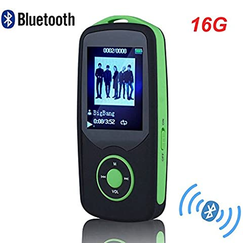 HONGYU MP3 Player, RX06 HiFi 16GB Bluetooth MP3 Music Player with FM Radio and Voice Recorder 50 Hours Lossless Playback & Expandable up to (Mp3 Player Hi Fi)