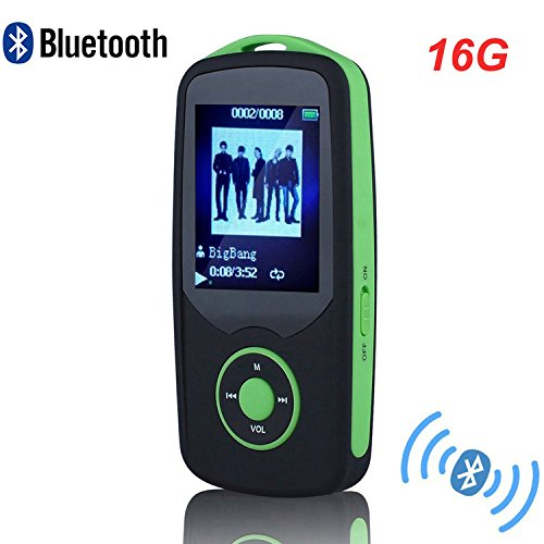HONGYU MP3 Player, RX06 HiFi 16GB Bluetooth MP3 Music Player