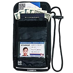 Travel Wallet-Passport holder-Neck Pouch-Anti-Theft-RFID Blocking-Traveling Accessories