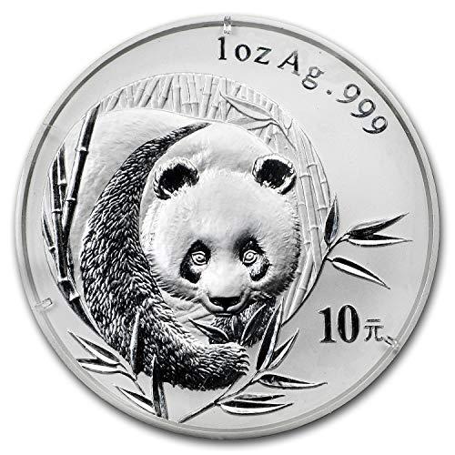 2003 CN China 1 oz Silver Panda BU (Frosted Bamboo, Sealed) 1 OZ Brilliant - 2003 Panda