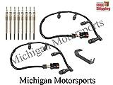 Michigan Motorsports Diesel Glow Plug Harness, Glow Plugs, and Tool - Fits Powerstroke Diesel 2004-2010 Ford 6.0