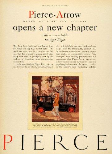 1929 Ad Pierce Arrow Antique Straight Eight Automobile Specifications Seaton Art - Original Print Ad