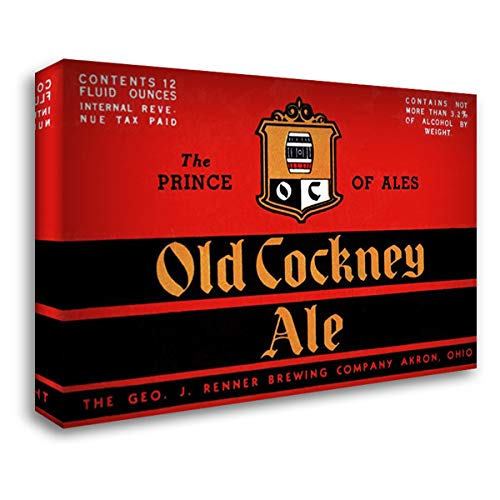 - Old Cockney Ale 40x28 Gallery Wrapped Stretched Canvas Art by Vintage Booze Labels
