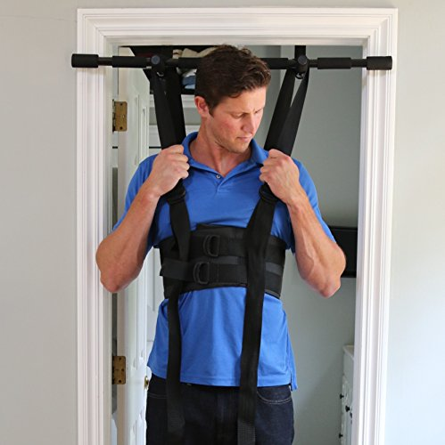 Sit and Decompress – The Ultimate Back Stretcher / Lumbar Traction – Increase your disc space by 20% instantly while in use. (Medium Harness Only)