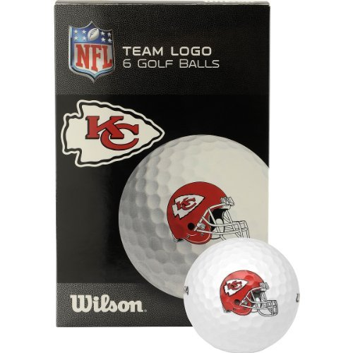 Wilson Kansas City Chiefs Golf Balls   6 Pack White