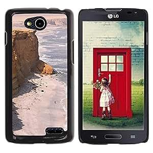 For LG OPTIMUS L90 / D415 Case , Seashore Desert Ocean Sand Beach - Diseño Patrón Teléfono Caso Cubierta Case Bumper Duro Protección Case Cover Funda