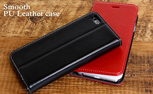Premium Pro-Type PU Leather Diary Case for iPhone 6 (Black)