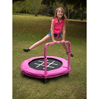 JumpKing Trampoline 4' Bouncer for Kids (Pink/Chalk): Toys & Games