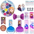 Townley Girl Disney Frozen 2 Backpack Cosmetic Set, Includes: Lip Gloss Compact, Hair Bows, Nail Polish, Nail File, Lip Balm, Toe Spacer, Nail Stickers