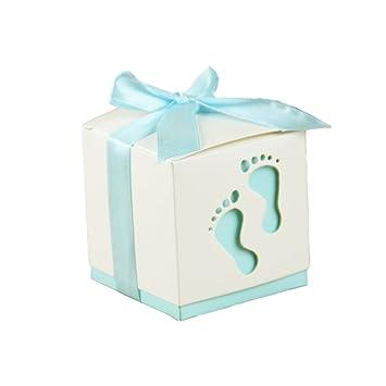 752897e7600c2a Lance Home® 50 Stück Hochzeit Taufe Gastgeschenk Geschenkbox Kartonage  Schachtel Tischdeko Bonboniere Box Hochzeit Dekoration