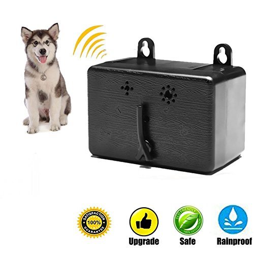 Ultrasonic Outdoor Anti-Bark Controller Sonic Bark Deterrent, No Harm To Dog or other Pets, Plant, Human, Easy Hanging/Mounting On Tree, Wall, Or Fence (Sonic Fence)