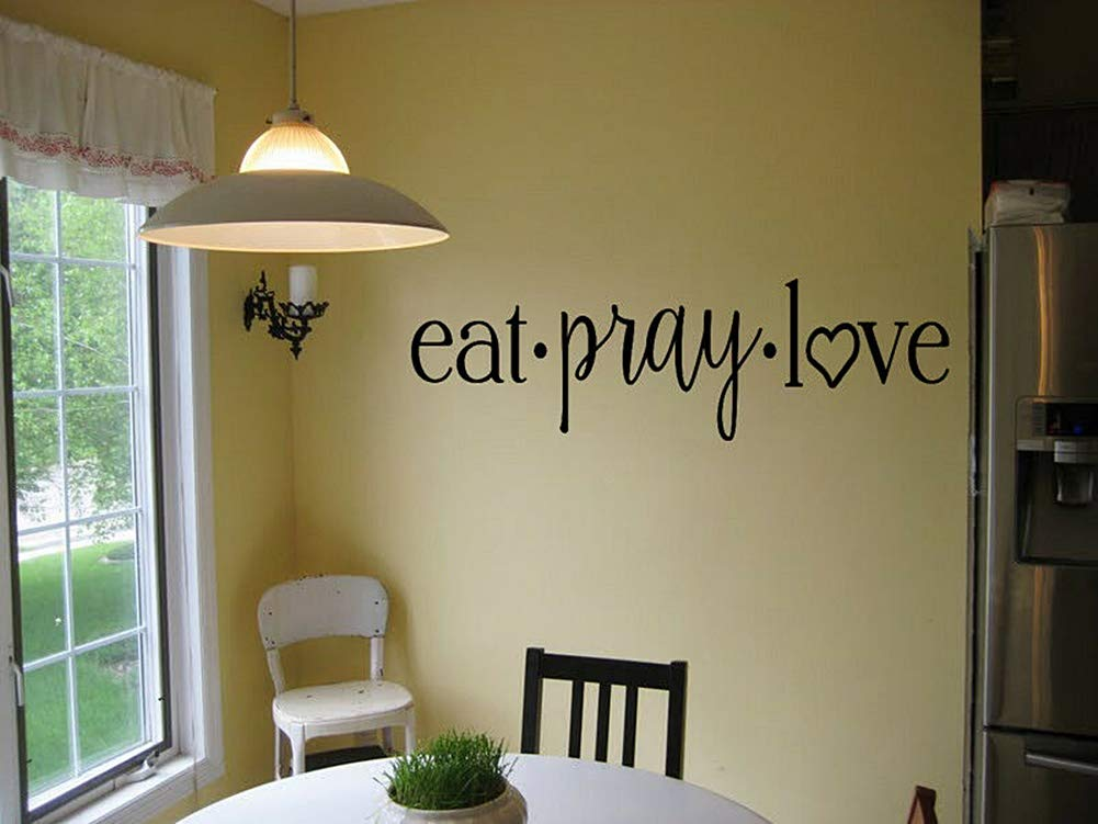 Spk Sticker EAT Pray Love Kitchen Cafe Diner Vinyl Wall Decal Religious Words Sticker Removable Bedroom Living Room Decoration