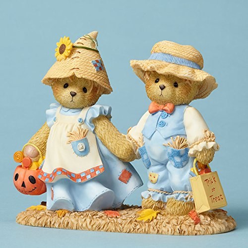 Enesco Cherished Teddies Collection Bears Dressed as Scarecrows