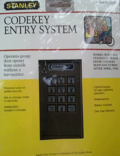 Stanley 24704 2986 3703120 310 Mhz Codekey Entry System Garage Door