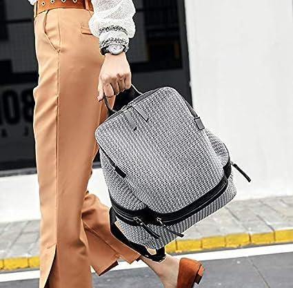 Color : Gray Zaino da donna Zaino Suck Bag Zaino Daypack Pendolari School Out Big Bag Fashion Capacity