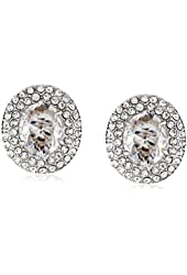 "Carolee ""Nassau Nights"" Crystal Button Clip-On Earrings"