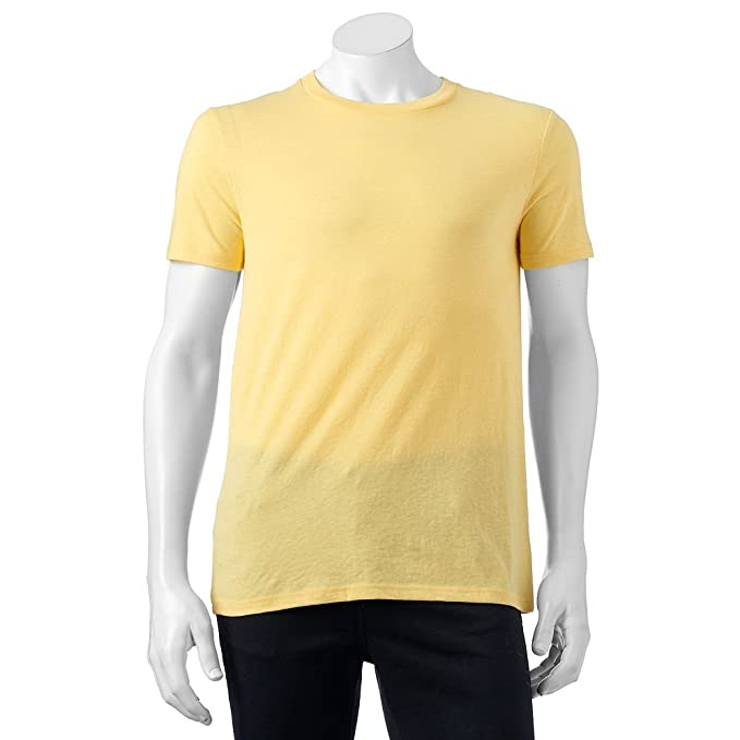 eedd02c84eb Amazon.com  Urban Pipeline Men s Heather Tee Crew Neck Lemon Drop ...