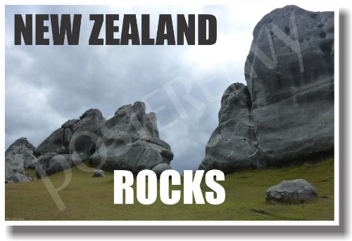 New Zealand Rocks - NEW World Travel Poster