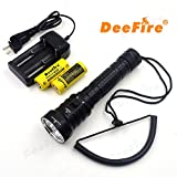 LED Diving Flashlight, 4LED XM-L2 Bright Submarine Light Professional Underwater Waterproof Torch Flash Light Lamp Brightness Waterproof, 100 Meters for Diver