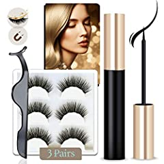 Now you can have thicker, longer, natural-looking eyelashes...in a much more convenient way!Our Arishine Magnetic eyeliner and lashes kit is very simple to use so you can quickly and easily get the gorgeous lashes you've been looking for.Si...