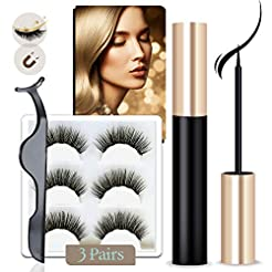 Magnetic Eyeliner and Lashes Kit, Magnet...
