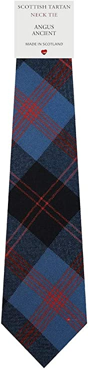 Luxury Wool Scottish District Tartan Lambswool Scarf Angus Muted