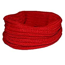 Coromose Warm Knit Neck Circle Wool Blend Cowl Snood Multi-purpose wool Scarf