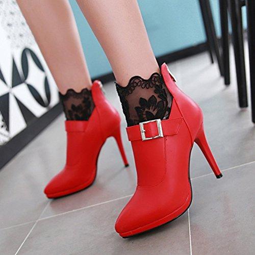 Noir 36 5 Bas Femme Red Agodor a8HxTIwqE6