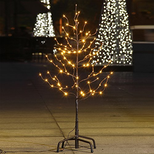 Lighted Star Light Tree,Warm White,Brown Branch (Brown Tree)