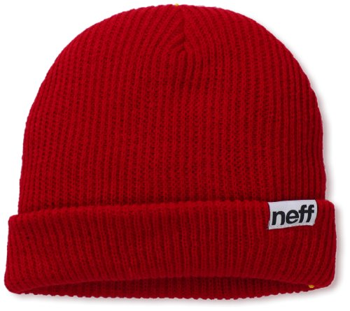 NEFF Men's Fold Beanie, Red, One Size (Neff Beanie Young Men)