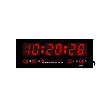 VORCOOL LED Despertador Digital Reloj Luminoso Display Calendar Temperature - Inglés