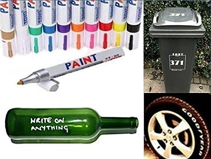 Rotulador permanente universal a base de aceite, pintura para cristal, metal, neumá