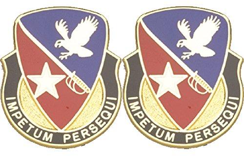 21st Cavalry BDE Distinctive Unit Insignia - Pair (IMPETUM PERSEQUI) ()