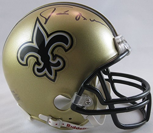 Tom Benson, New Orleans Saints, Signed, Autographed, Mini Helmet, a COA with the Proof Photo of Tom Signing Will Be Included
