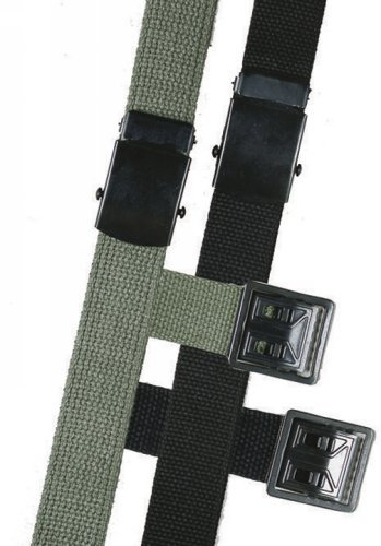 5ive Star Gear Web Belts with Open Face Buckle, Black, 44