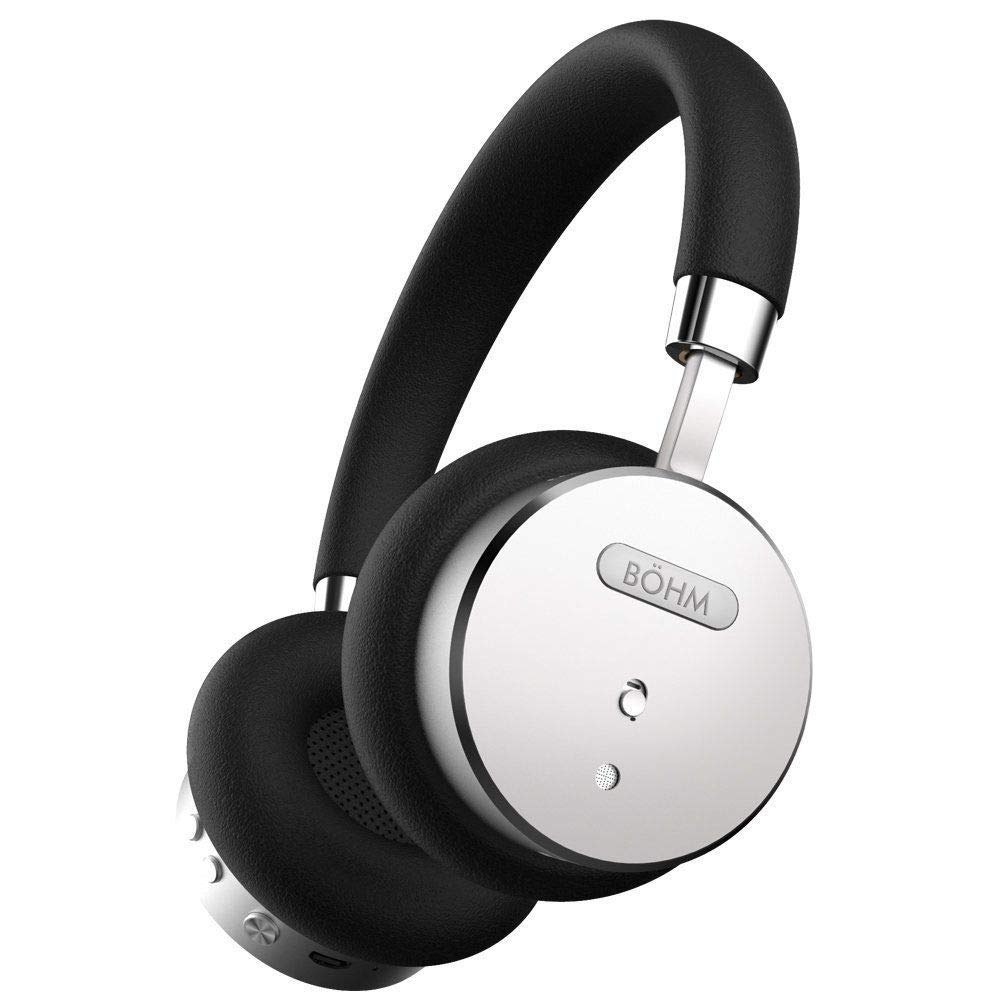 Bhm B66 On Ear Wireless Bluetooth Headphones With Speaker Leather Black Perak Active Noise Cancellation Home Audio Theater