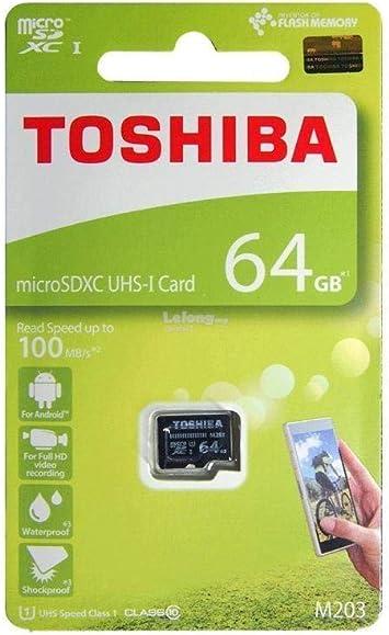 Amazon.com: Toshiba 64 GB M203 microSDXC UHS-I U1 tarjeta ...