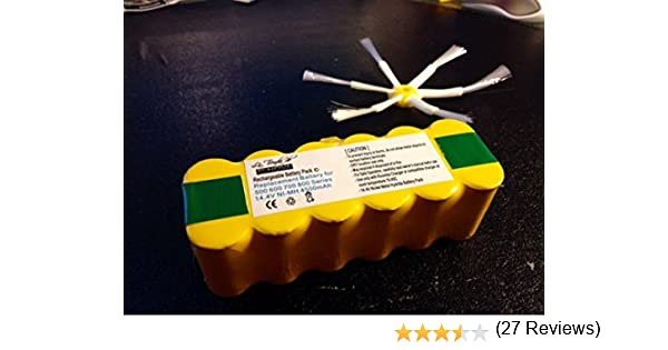 Bateria Roomba Compatible serie 500, 560, 600 y 700 + Cepillo Gratis de 6 astas de regalo: Amazon.es: Electrónica