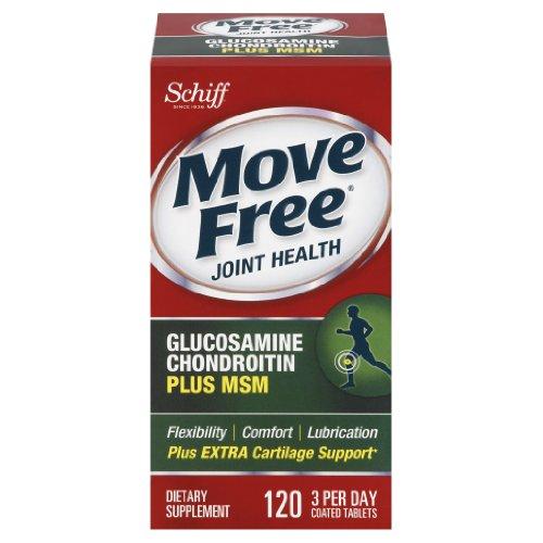 Свободно перемещаться Глюкозамин Хондроитин МСМ и гиалуроновой кислоты Совместное дополнять, 120 Count