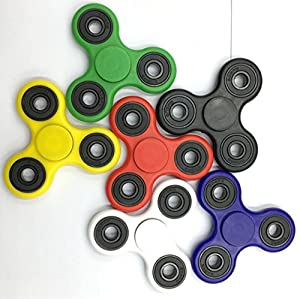 (GoldStore95) 10pcs New Styles Fidget Spinner EDC -Stress Reducer Toy for Kids, Students and Adult - Fidget Spinner Color, Camo, Glow in the Dark Fidget toys (Mixed colors)