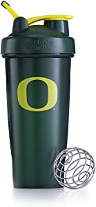 BlenderBottle Collegiate Classic 28-Ounce Shaker Bottle, University of Oregon Ducks - Green/Yellow