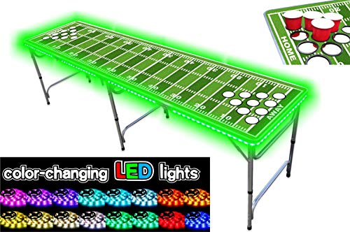 PartyPongTables PPT-082220213 Football Field with Cup Holes & LED - Table Football Field